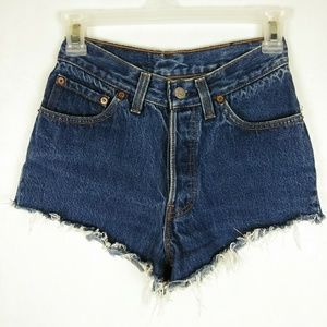 Vintage LEVI'S High Rise Button Fly Jean Shorts